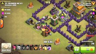CLASH OF CLANS - War Attack 3star Max Th7 base