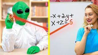 Alien at College / 8 DIY Weird College Supplies