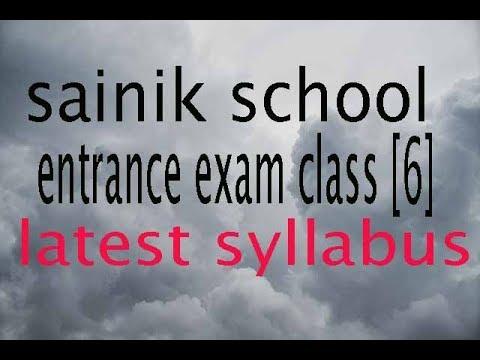 2018-19 new syllabus for sainik school entrance exam class 6 ...