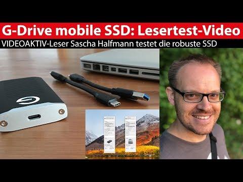 G-Technology G-Drive mobile SSD: Lesertest-Video von Sascha Halfmann