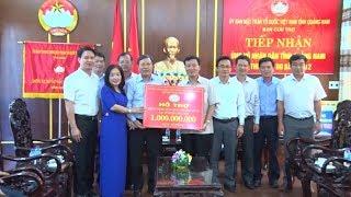 Ngành Ngân hàng hỗ trợ Quảng Nam 2 tỉ đồng giúp đỡ người dân khắc phục thiệt hại do mưa bão