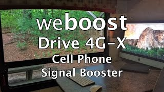weboost Drive 4G-X Cell Phone Signal Booster RV installation & Review