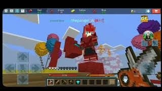 Playing Blockman Go and Minecraft Bedwars with my sis