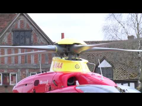 News Report: Air Ambulance lands in Stratford-upon-Avon