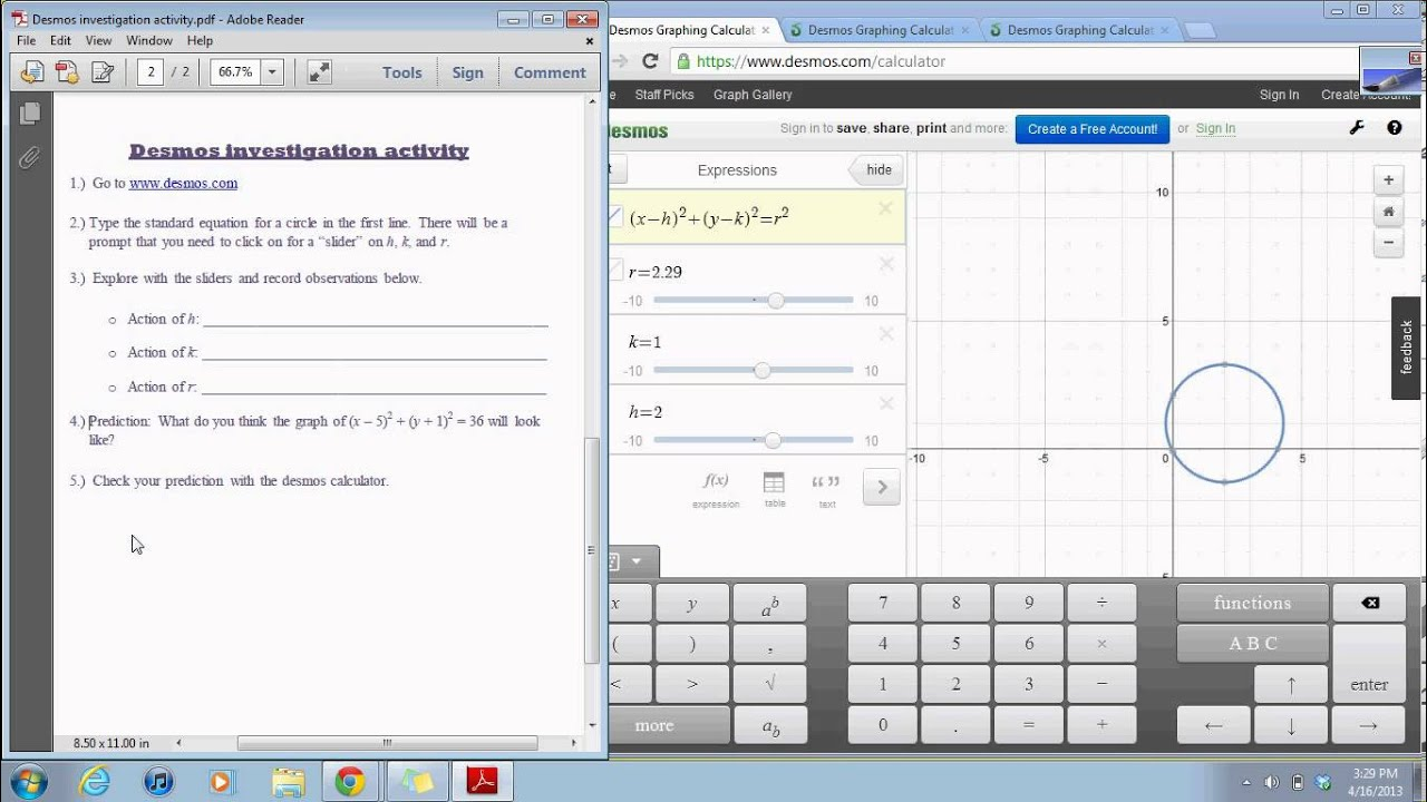 How to get a regression on desmos