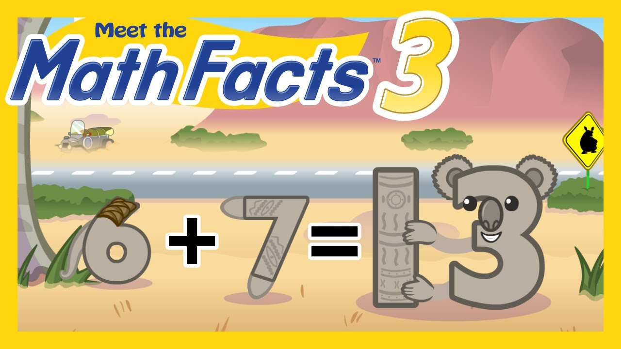 Meet the Math Facts Level 3 - 6+7=13 - YouTube