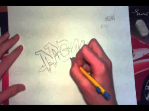 tutorial apprendre le graffiti sur papier d butant. Black Bedroom Furniture Sets. Home Design Ideas