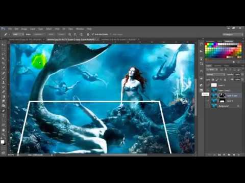 Deep Blue Sea 3d Effect Photoshop Cs6 Tutorial Youtube
