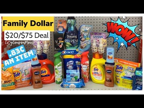 Family Dollar | Couponing This Week & More Savings!! $20/$75 Deal & Scenarios 3/8 - 3/14