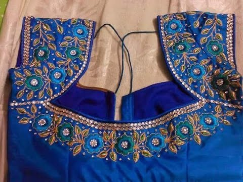 work blouses for pattu sarees - YouTube