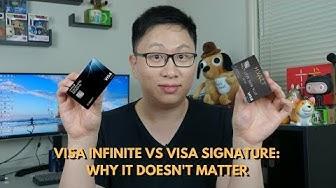 Visa Signature vs. Visa Infinite: Why It Doesn't Matter