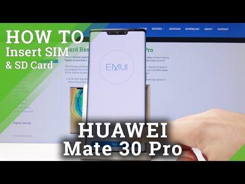 How To Insert Nano SIM In HUAWEI Mate 30 Pro - Install Nano SIM Card