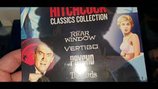 ALFRED HITCHCOCK CLASSICS COLLECTION 4K ULTRA HD BLU-RAY UNBOXING + MENU