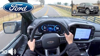 2021 Ford F-150 Platinum PowerBoost Hybrid // POV Test Drive (3D Binaural Audio) (ASMR)