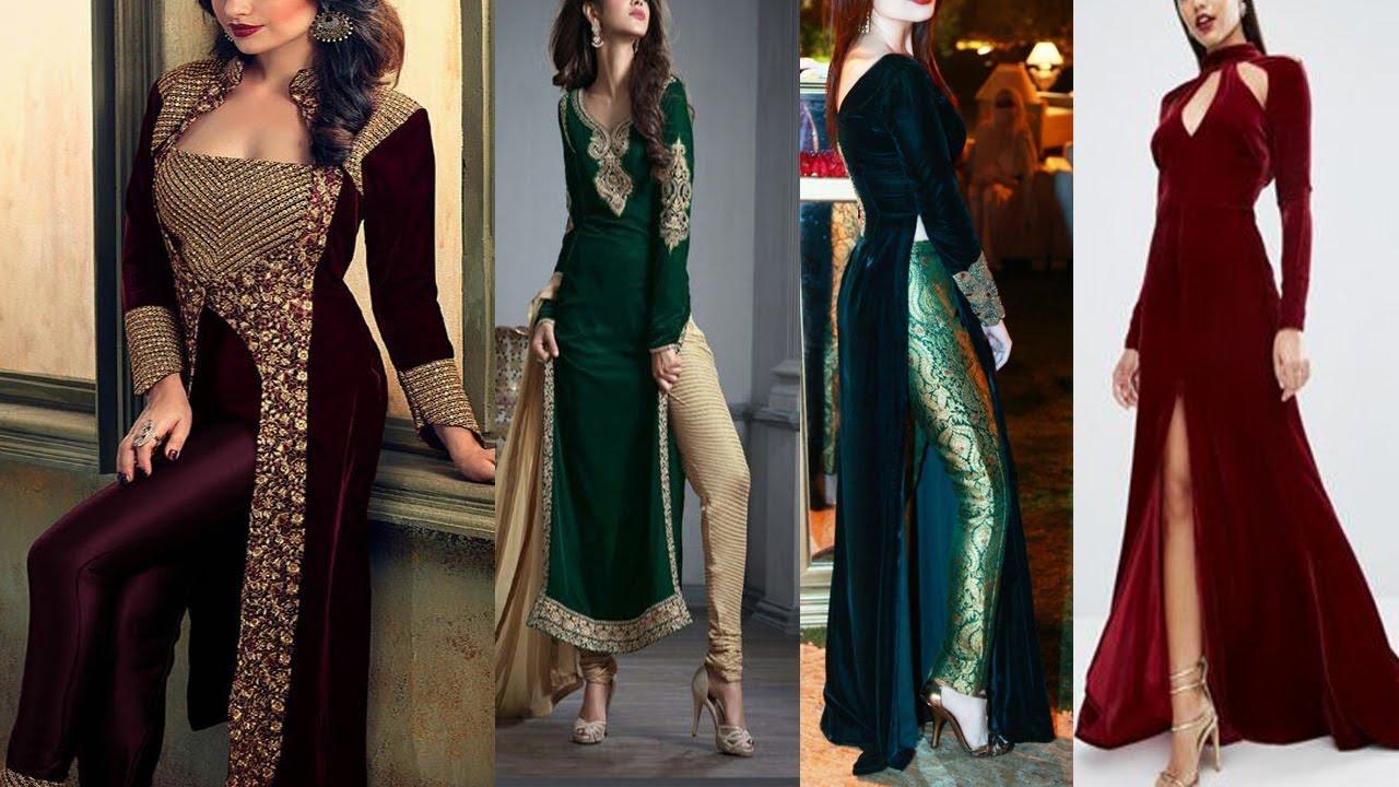 9cef6812ce Latest Velvet Kurti Designs, Velvet Suit Designs, Latest Velvet Salwar Suits