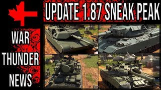War Thunder - Update 1.87 Sneak Peak - M1A1, T-80U, Tunguska