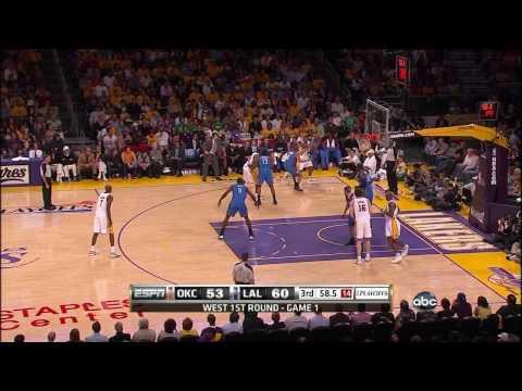 Nba Playoffs:Lakers vs Thunder Game 1 Highlights (HD)