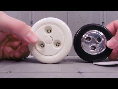 LED TAP-LIGHT VS DOLLAR STORE VERSION! REVIEW!
