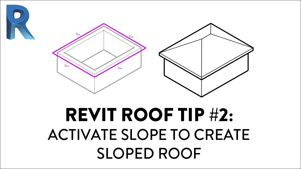 Revit Roof Tip 2 Activate Slope To Create Sloped Roof