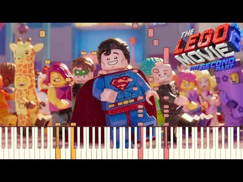 Catchy Song - The LEGO Movie 2: The Second Part  Piano Tutorial Synthesia