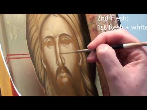 Iconography Tutorial: Painting the Face of Christ