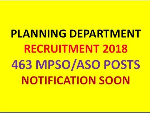 TS PLANNING DEPARTMENT RECRUITMENT 2018 | 463 MPSO/ASO POSTS | TSPSC NOTIFICATION SOON | GOVT G.O.
