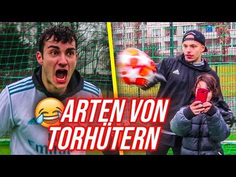 ARTEN von Fußball TORHÜTERN !