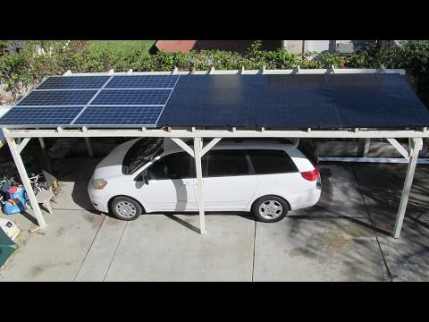 DIY: Home Made 3 KW Solar Car Port Parking structure from us