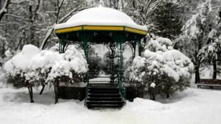 Трускавец зимой - центр Трускавца зима 2018 (часть 1) center of Truskavets in winter