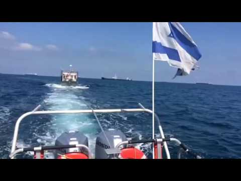 Police marine unit rescue off of coast of Ashdod (via Media Resource Group)