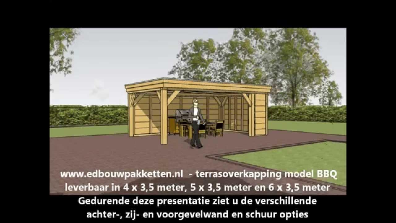 Terrasoverkapping hoe bouw ik zelf een douglas veranda met berging en gebint v a - Hoe een overdekt terras te bouwen ...