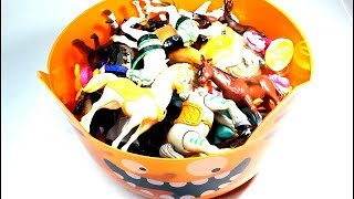 Bowl of Colorful Horses for Kids Horse Toys for Kids Learning Colors