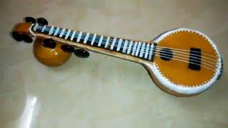 Miniature Veena Making   How To Make   Indian Musical Instruments   DIY-Creative വീണ ഉണ്ടാക്കിയാലോ?