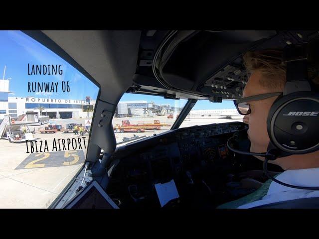 Landing runway 06 Ibiza Airport (IBZ LEIB)