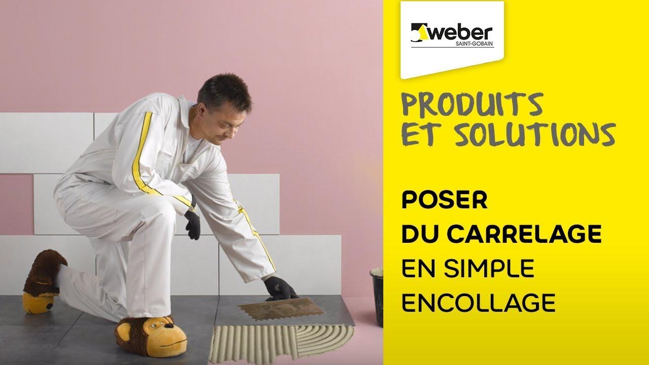 Pose De Carrelage Webercol Flex Confort En Simple Encollage Sol Et Mur
