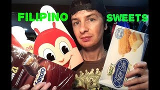 American Guy Trying Filipino Foods - Pastries and Sweets