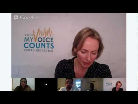 Forum on Business & Human Rights - Make your #VoiceCount Google+ Hangout Series (I)