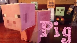 Papercraft - minecraft: Pig
