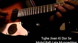 """Tujhe Jivan Ki Dor Se""-Mohd Rafi-Lata Mungeshkar-Mandolin-Film-Asli Naqli"