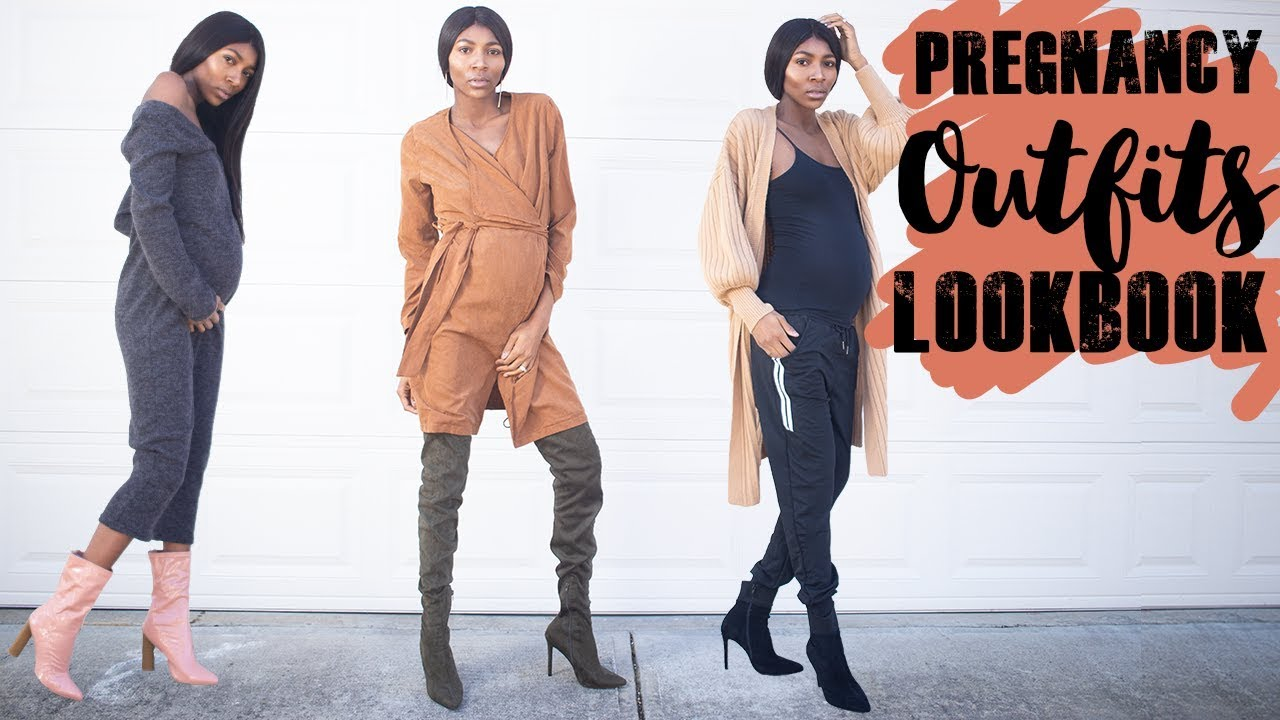 TRY ON FALL OUTFITS - PREGNANCY LOOKBOOK   FT. AMI CLUBWEAR 1