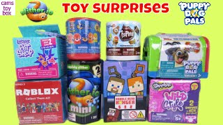 Paw Patrol Surprise Toys Unboxing Roblox Shopkins Poopeez Minecraft Puppy Dog Pals Slitherio