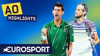 Novak Djokovic vs Dominic Thiem Highlights | Australian Open 2020 Final | Eurosport