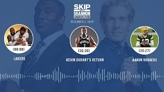Lakers, Kevin Durant's return, Aaron Rodgers (12.2.20) | UNDISPUTED Audio Podcast