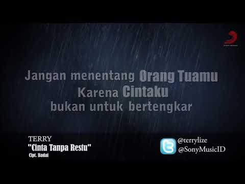 Terry - Cinta Tanpa Restu (karaoke/ no vocal + lirik)