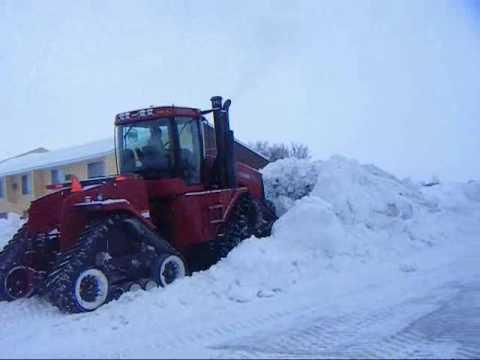 pushing snow case ih steiger stx535 quadtrac leon 4000 6 way blade