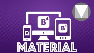 Bootstrap 4 and Material By Google Project Tutorial
