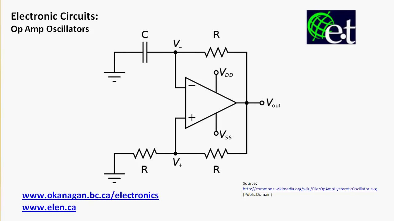 Operational Amplifiers Relaxation Oscillators Youtube How To Connect The Lm741 Op Amp Chip A Circuit