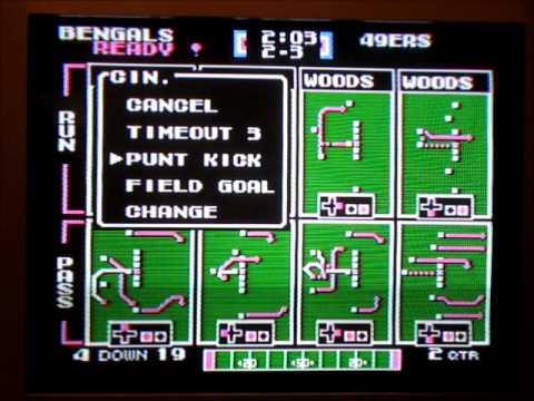 Tecmo Super Bowl VII - Cincinnati vs. San Francisco