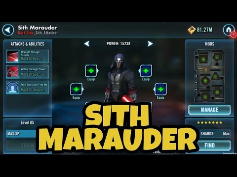 SWGOH New Sith Character: Sith Marauder