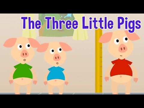 The Three Little Pigs - Animated Fairy Tales For Children